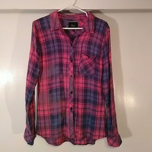 Rails Pink and Blue Flannel